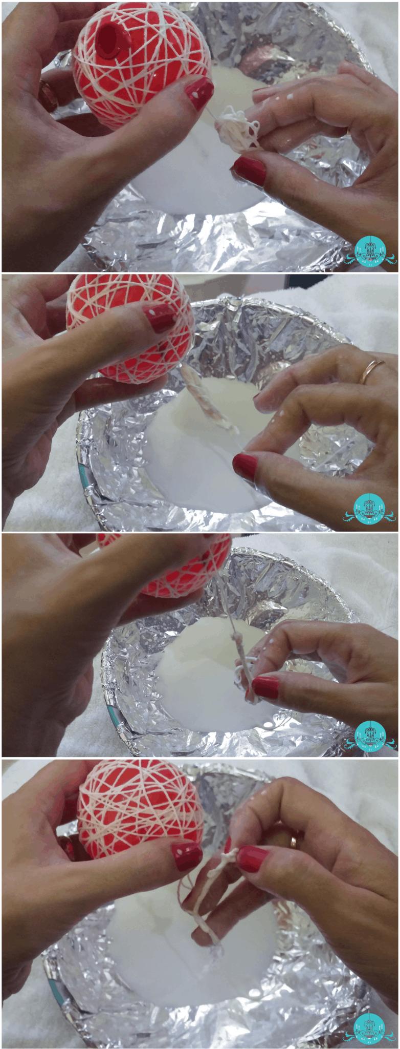 Pisca Pisca com Bolinhas de Crochê