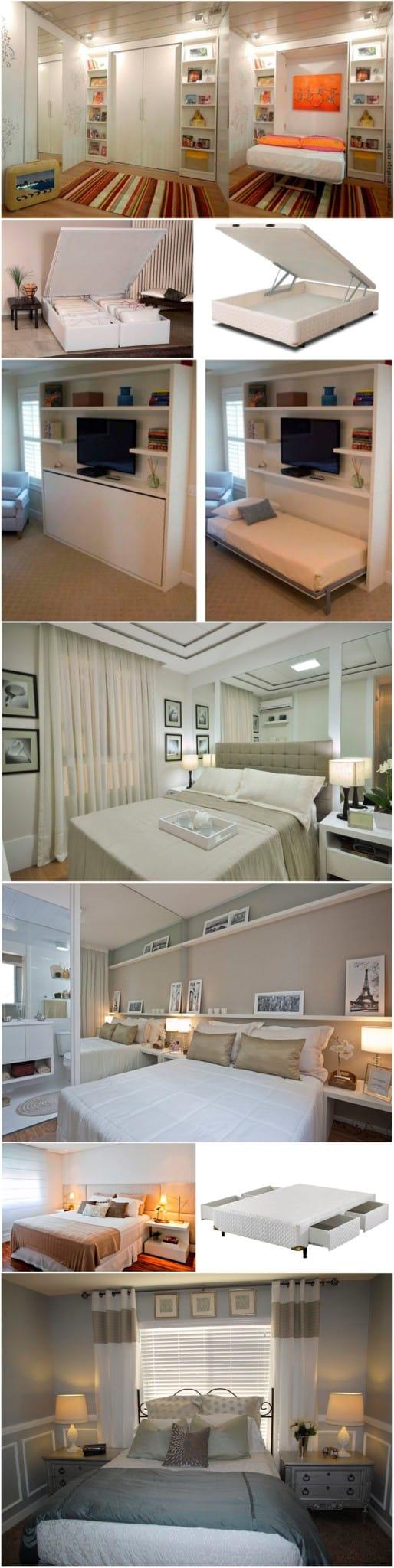 apartamentos pequenos decorados quarto