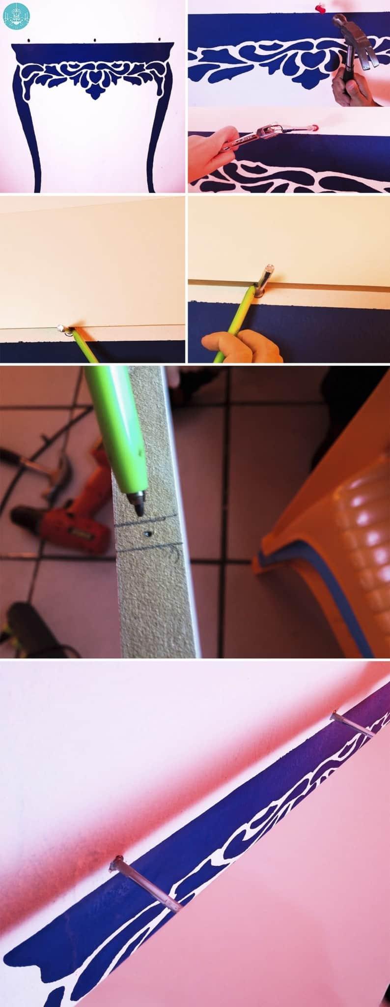 como fazer aparador pintado na parede