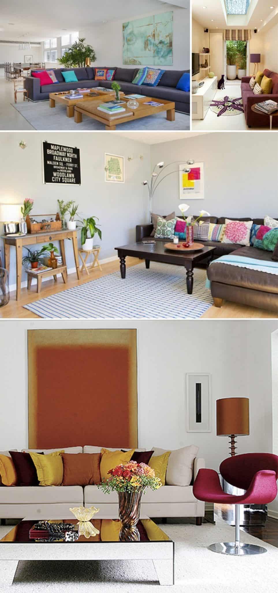 sala de estar colorida