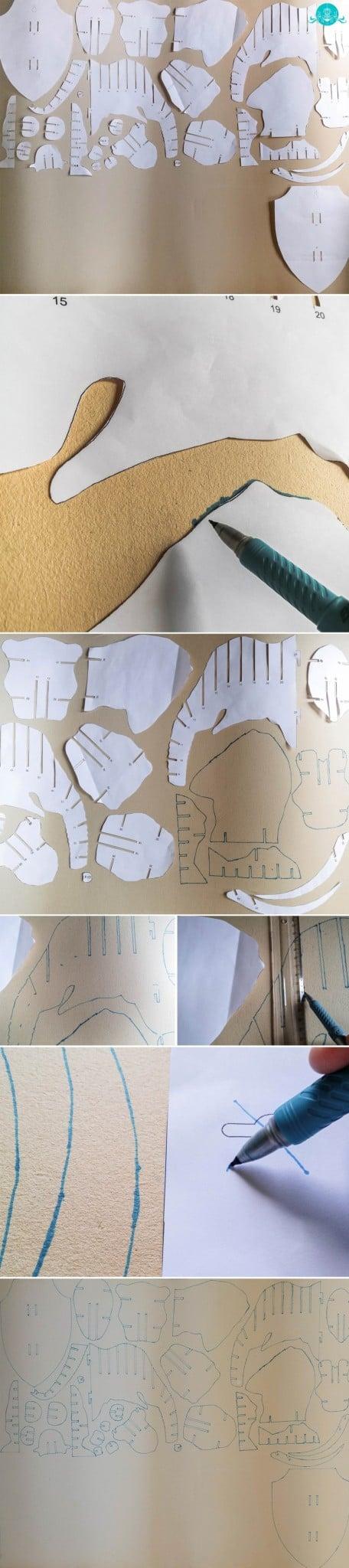 Molde de Cabeça de Elefante 3D