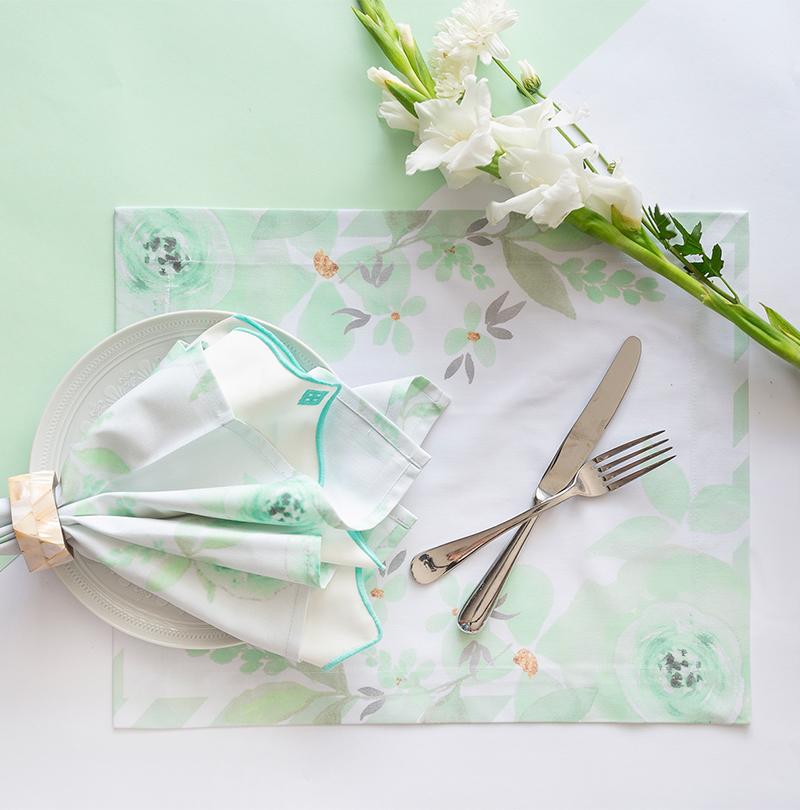 Guardanapo Floral Mint
