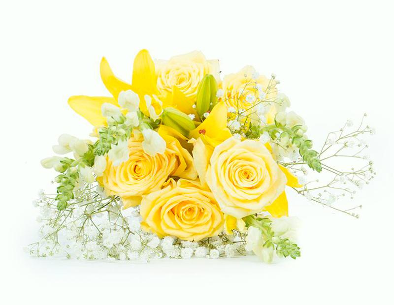 Flores Amarelas com Lírios